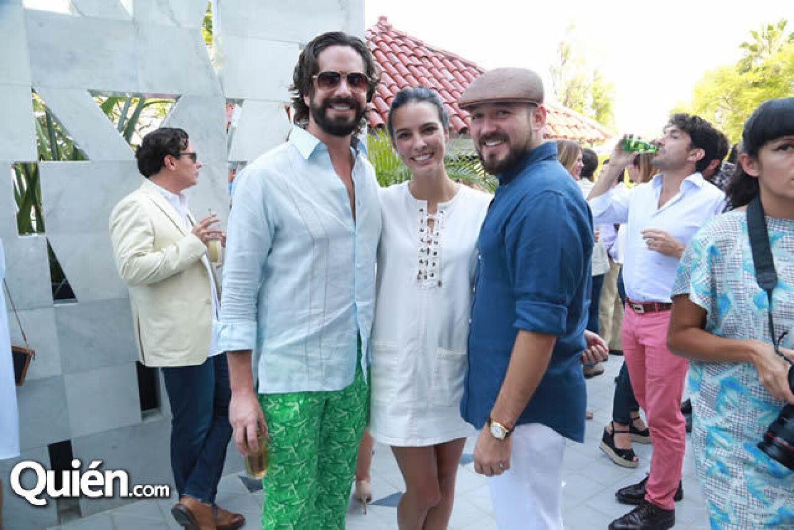 Manuel Maciel,Andrea Sheridan y José Adrián Moreno