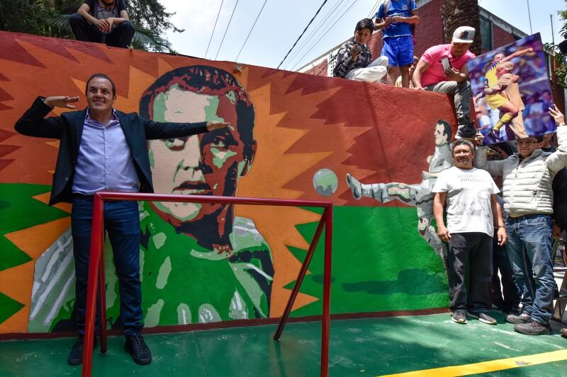 Cuauhtémoc Blanco homenaje murales Tlatilco inseguridad