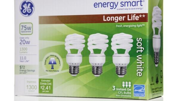 GE enery smart longer life soft white CFL box