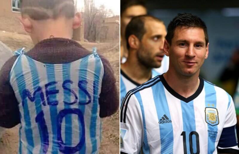 Después de que circulara por todo el mundo la fotografía de un niño con una bolsa de plástico como camiseta del futbolista más afamado del mundo, su identidad se ha revelado.