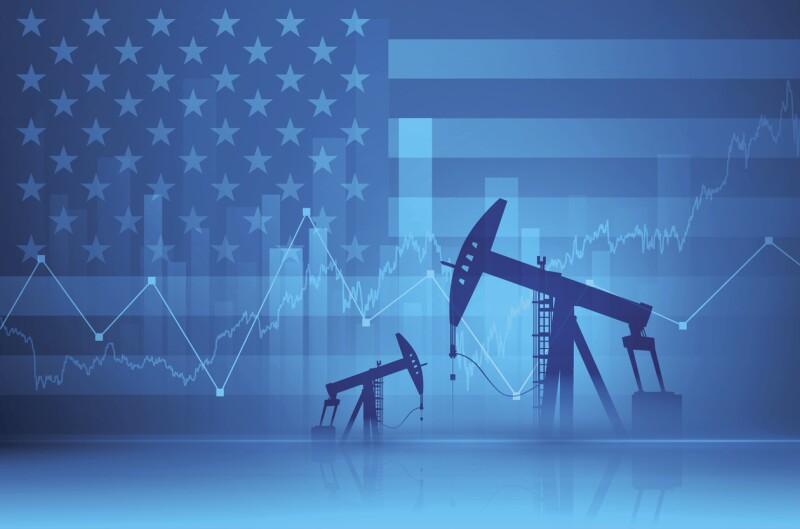 Financial background - oil derricks