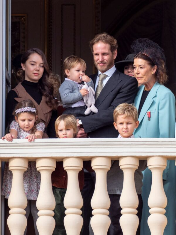 Princesa Alejandra de Hannover, India Casiraghi, Andrea Casiraghi y su hijo, Stefano Casiraghi y la princesa Carolina de Hannover