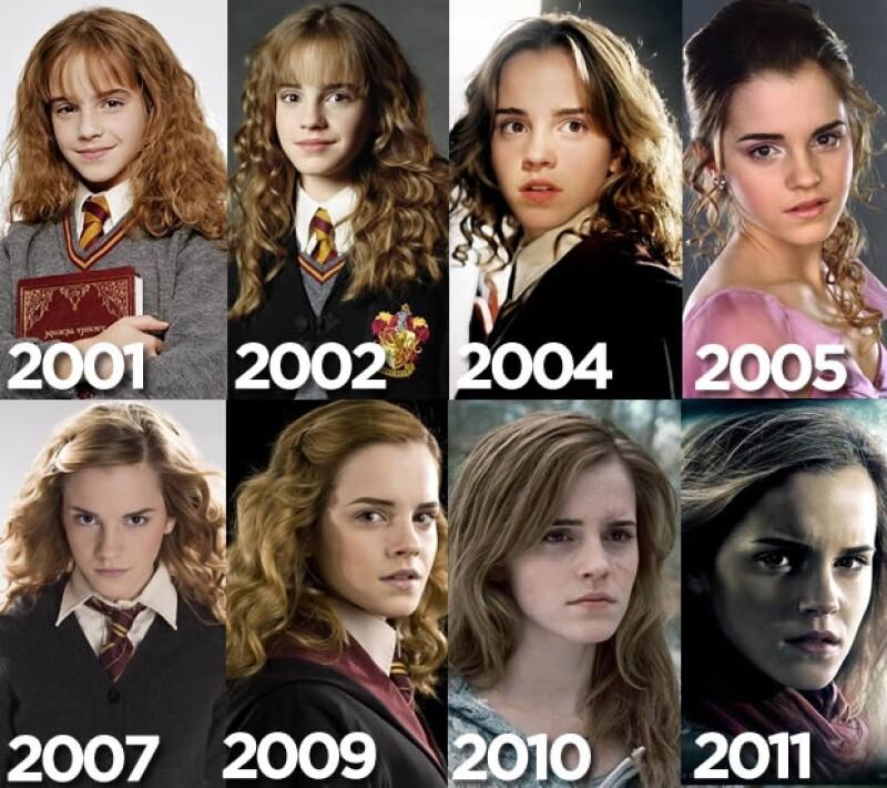La evolución del personaje de Hermione Granger, interpretado por Emma Watson.