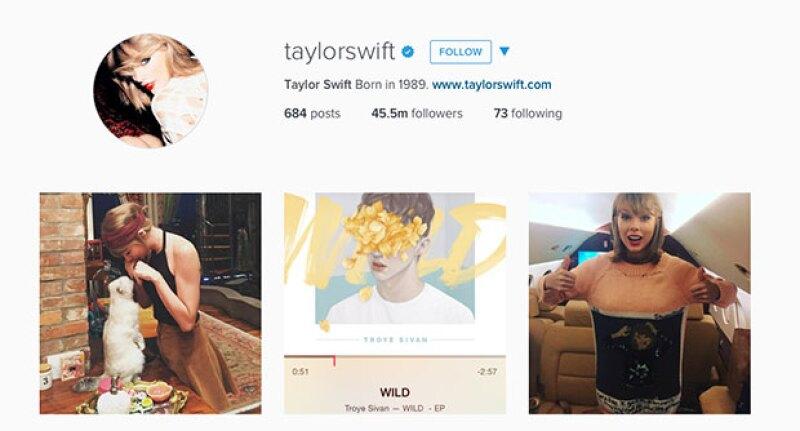 Hasta el momento, Taylor tiene 45, 515, 803 millones de followers.