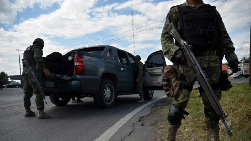 Ejercito mexicano en Michoacan