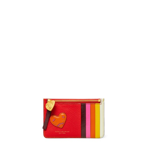 TB Perry Patchwork Hearts Top-Zip Card Case 61090 in Brilliant Red-Crazy Pink.jpg