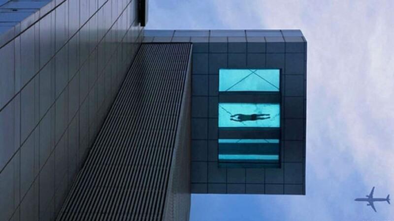 piscina, china, hotel