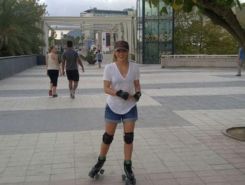 Shakira también es fan del patinaje sobreruedas y hielo.