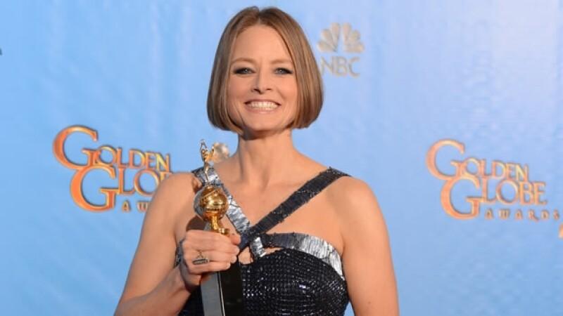 Jodie Foster en los Globos de Oro