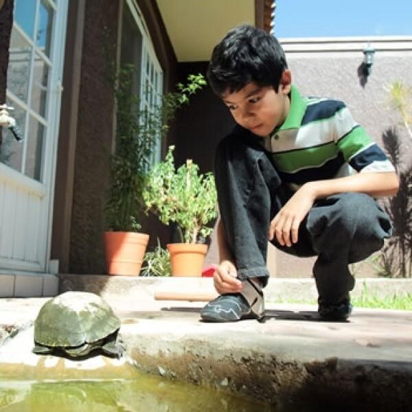 Luis Roberto Ramirez Alvarez con su tortuga