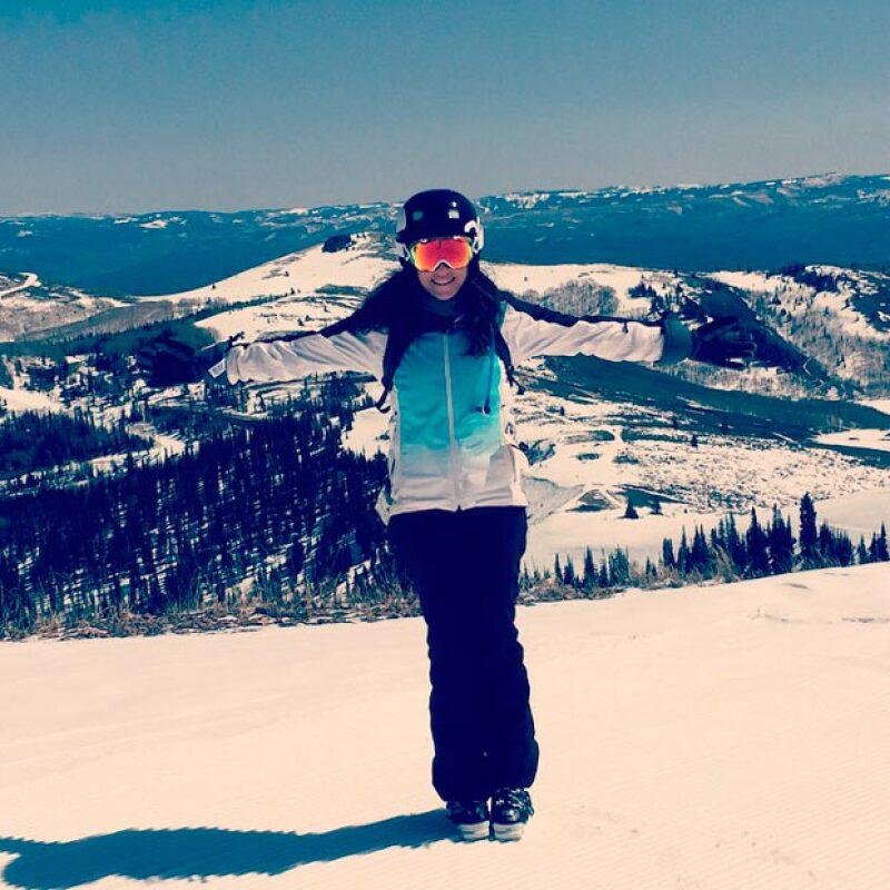 Después del exitoso final de temporada de How To Get Away With Murder, la actriz se relajó en Deer Valley, Utah.