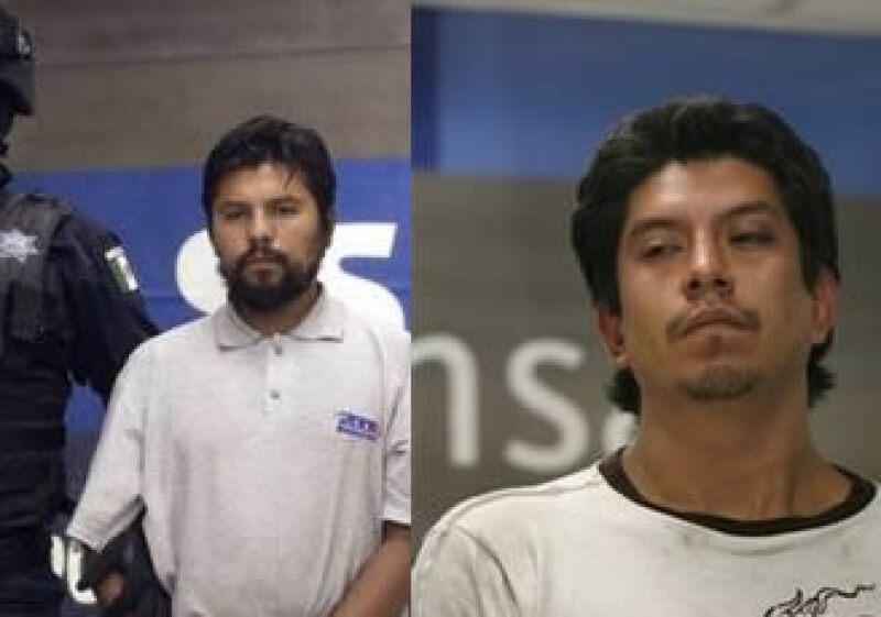 La SSP presentó a José Montiel Cardozo (izq.) y Noé Robles Hernández (der.) tras su captura.  (Foto: Reuters)