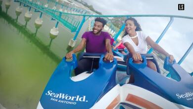 La nueva montaña rusa de Sea World es espectacular