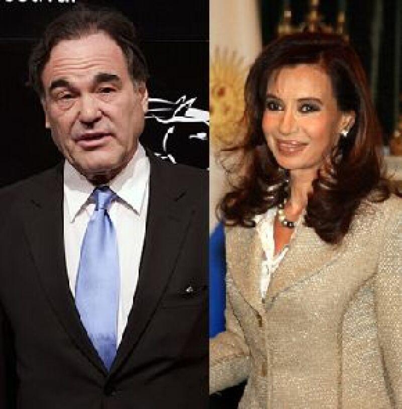 El cineasta se reunió con Cristina Fernández y con su esposo para su documental.
