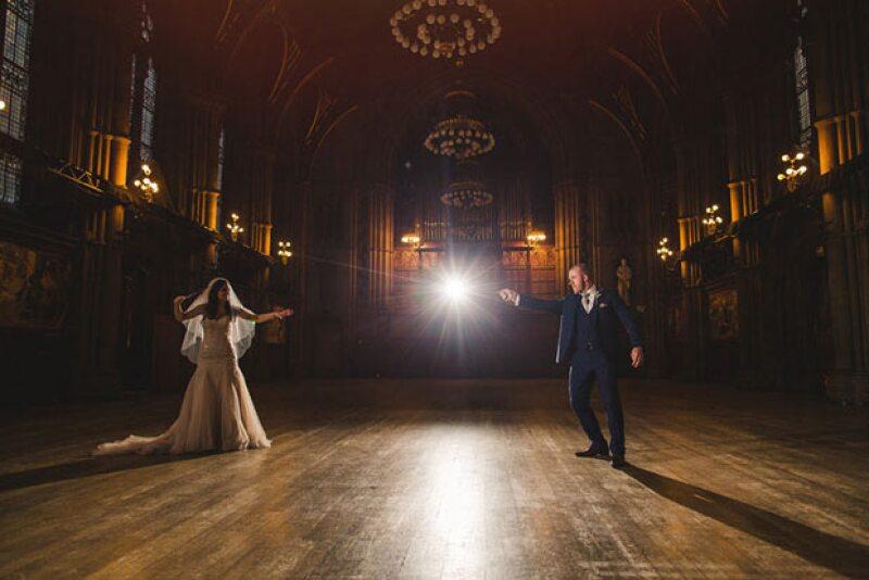 Esta pareja logró una boda de ensueño al estilo Harry Potter.