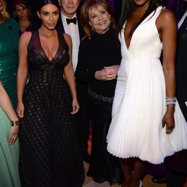 Kim Kardashian West, Barbara Walters y Naomi Campbell a