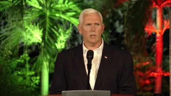 Mike Pence matizó la opción militar que Trump había advertido a Caracas