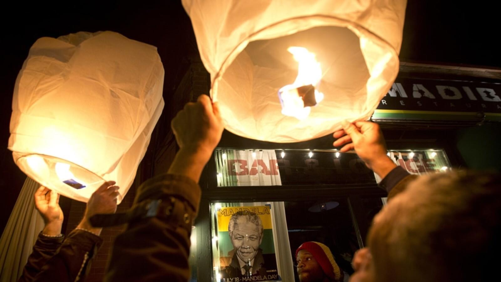 Nueva York gente despide Mandela