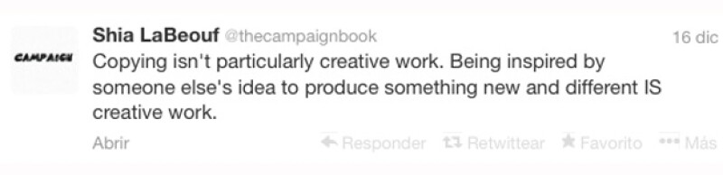 LaBeouf escribió una serie de disculpas en su cuenta de Twitter.
