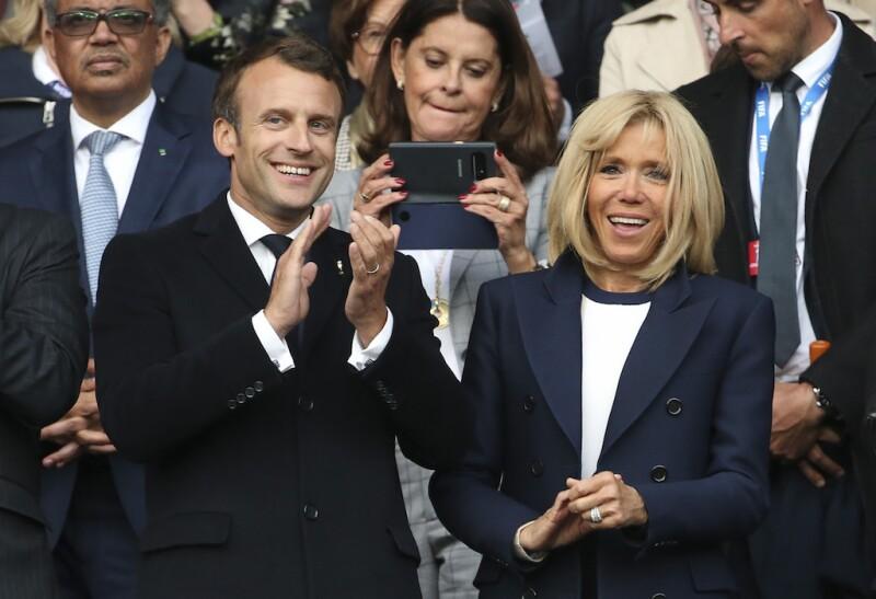 Emmanuel Macron y Brigitte Trogneux