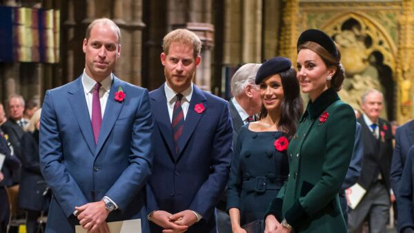 Príncipe William, príncipe Harry, Meghan Markle y Kate Middleton