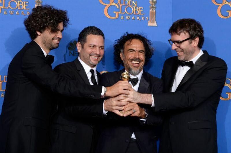 El director mexicano se coronó como ganador en la categoría de Mejor Guión en los Golden Globes, donde aprovechó para destacar la labor de sus protagonistas, como Michael Keaton y Emma Stone.