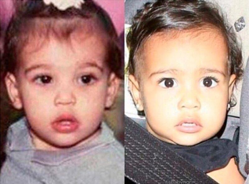 Recientemente Kim compartió este comparativo entre ella y su hija North.