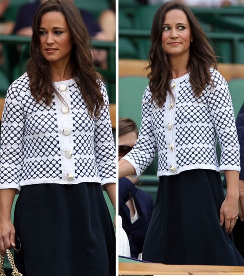 La hermana de la duquesa de Cambridge llamó la atención con un conjunto clásico durante el torneo de Wimbledon.