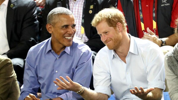 Barack Obama, príncipe Harry