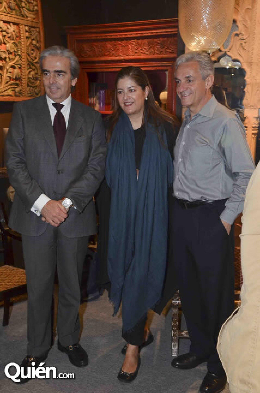 Lorenzo Lazo, Marcela Aguilar y Maya y Benito Echeverría