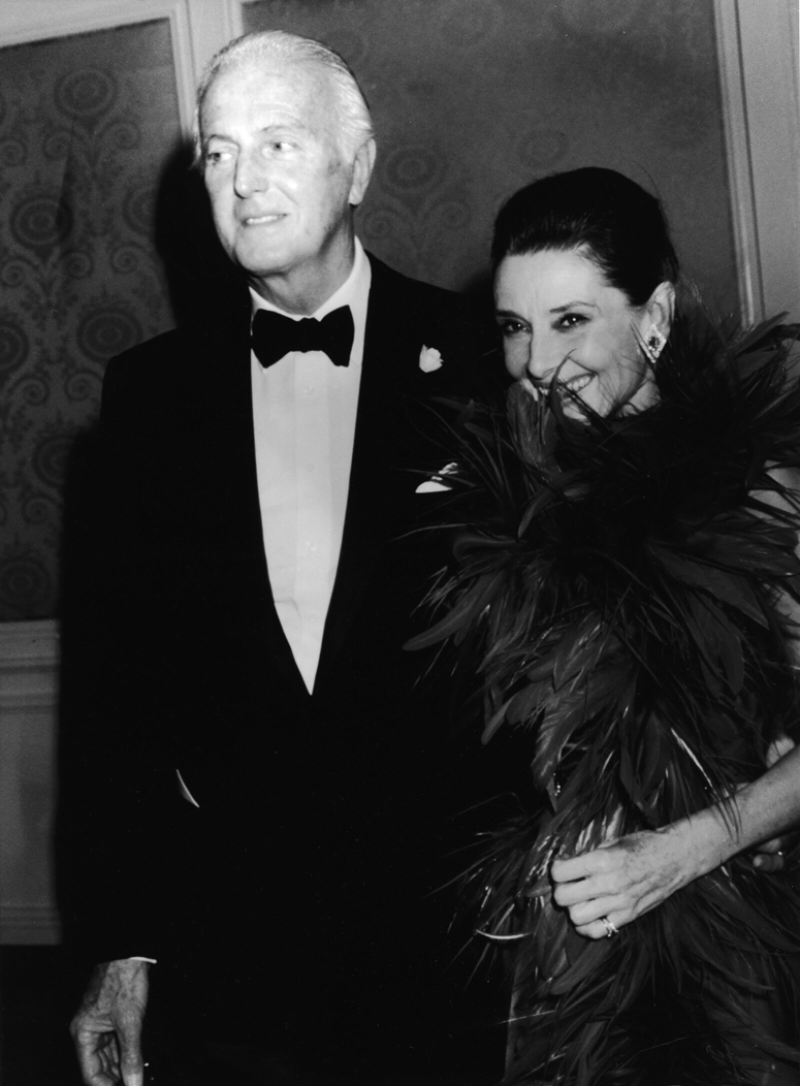 Hubert De Givenchy & Audrey Hepburn Attend Gala