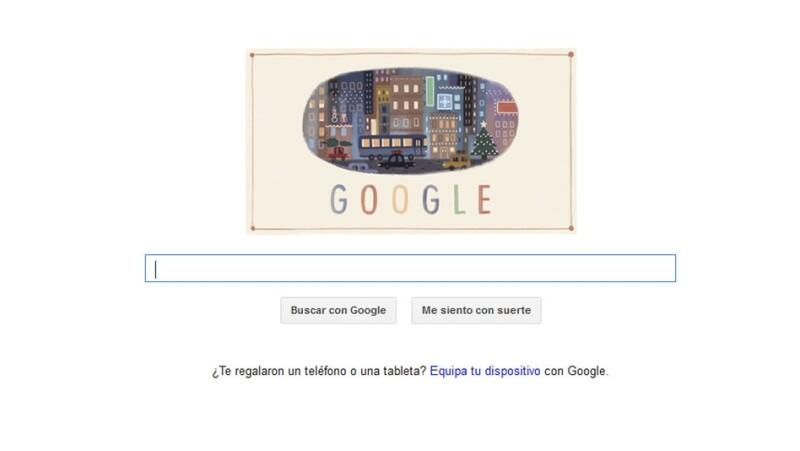 internet, google, doodle, felices fiestas, navidad, diciembre, invierno, tecnologia