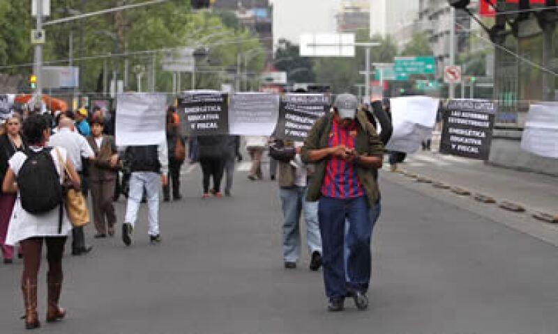 La CNTE protestó por tres días en la capital mexicana. (Foto: Notimex )
