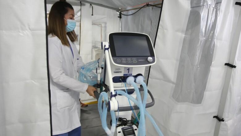 Apertura del Hospital de Campo en el INER