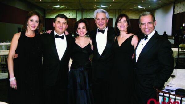 Eva Garza de Fernández, José Antonio Fernández, Maye Garza de Villarreal, Héctor Treviño, María Fernanda Garza de Treviño, Alberto Villarreal