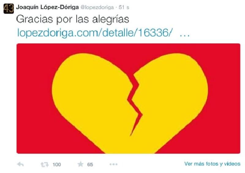 Así expresó Joaquín López Dóriga su reacción ante la muerte de Roberto Gómez Bolaños.