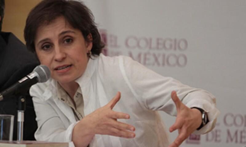 Carmen Aristegui dijo que todo su equipo fue despedido. (Foto: Notimex )