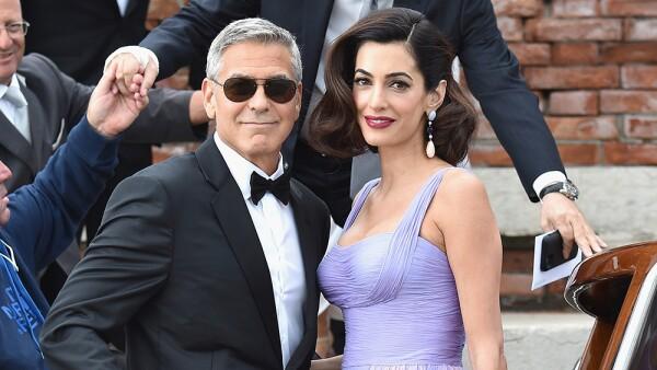 George y Amal Clooney Venecia 1