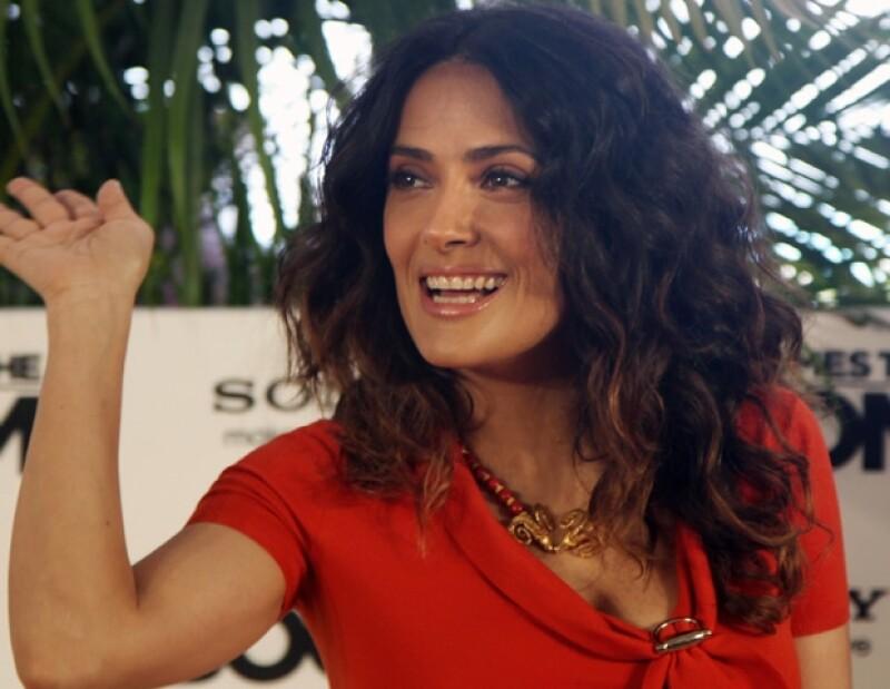 Salma Hayek presentó en Cancún su nueva película, `Here Comes The Boom´.