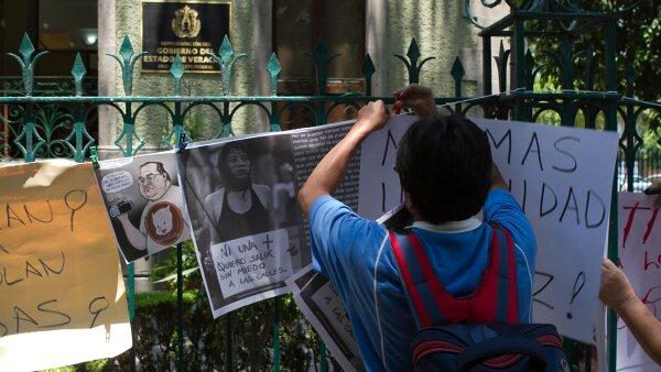 El caso de Daphne Fernández generó protestas en Veracruz y la Ciudad de México.