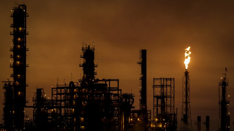 FILE PHOTO: A general view shows Mexican state oil firm Pemex's Cadereyta refinery, in Cadereyta