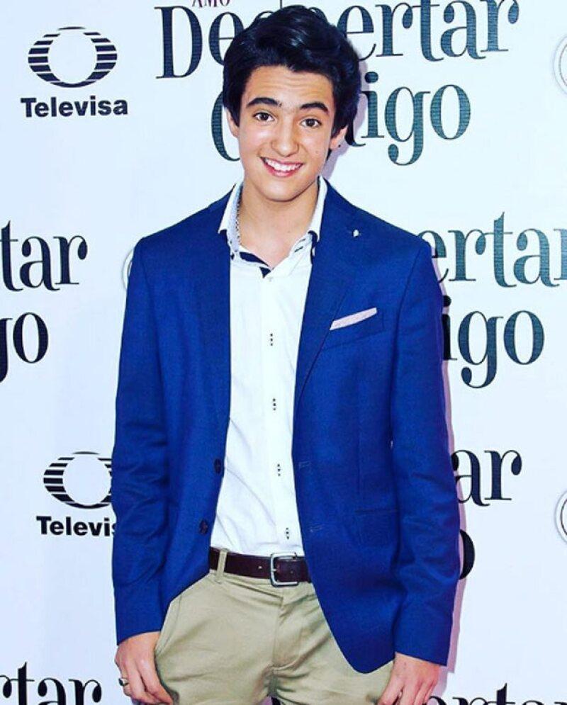 A sus 13 años, Sebastián ha emprendido su carrera como actor en la producción de Pedro Damián.