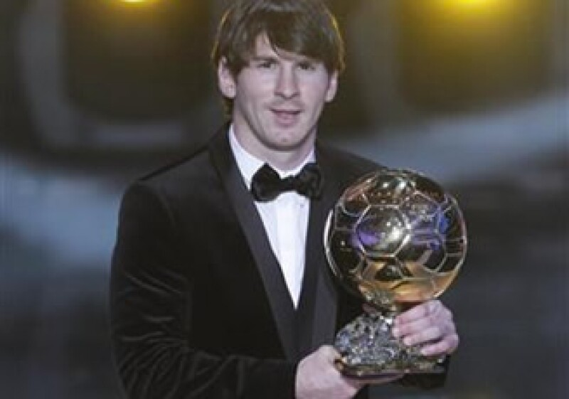 Lionel Messi superó en la votación final del Balón de Oro a sus compañeros de equipo Andrés Iniesta y Xavi, segundo y tercer lugar respectivamente. (Foto: Reuters)