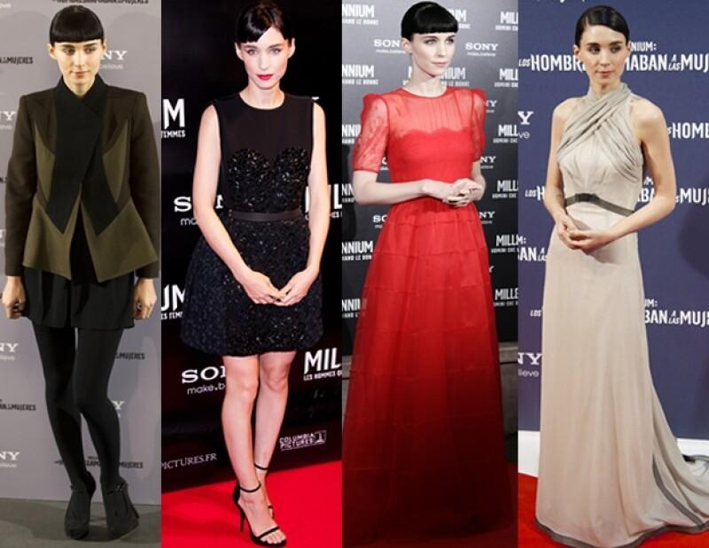 Durante los últimos meses, la actriz de origen neoyorquino ha sorprendido con un impecable estilo femenino con aire `edgy´.