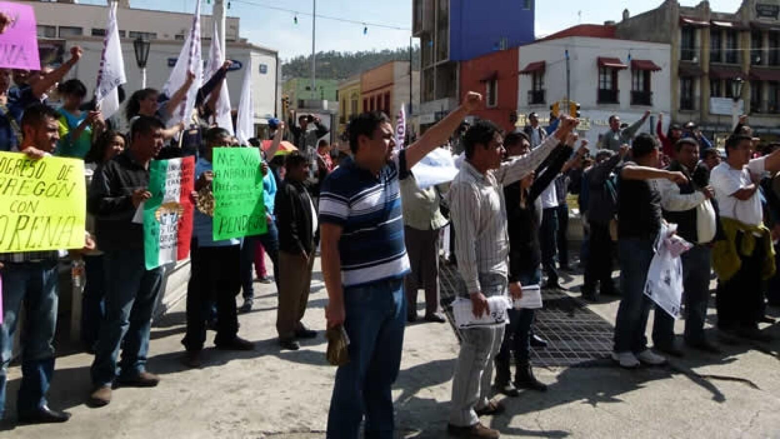protestas contar peña nieto en hidalgo