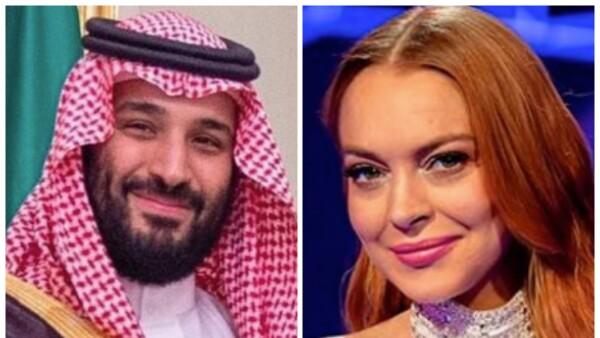 Mohammad bin Salman y Lindsay Lohan