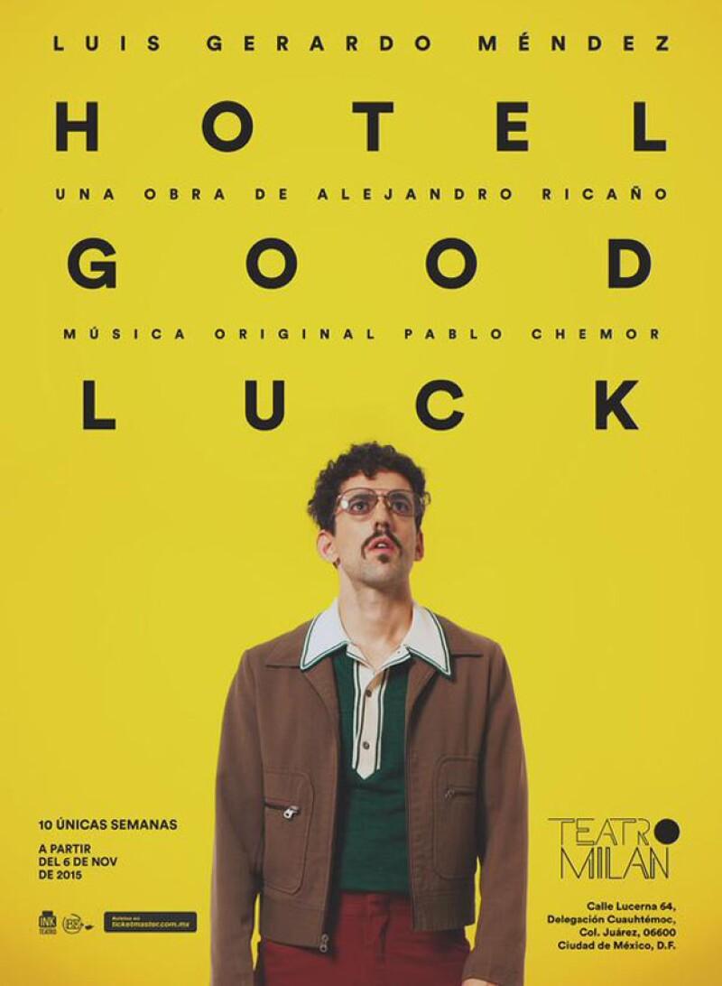 """Después de hacer cine y televisión, el actor se prepara para estrenar """"Hotel Good Luck"""", proyecto escrito especialmente para él por el director Alejandro Ricaño."""