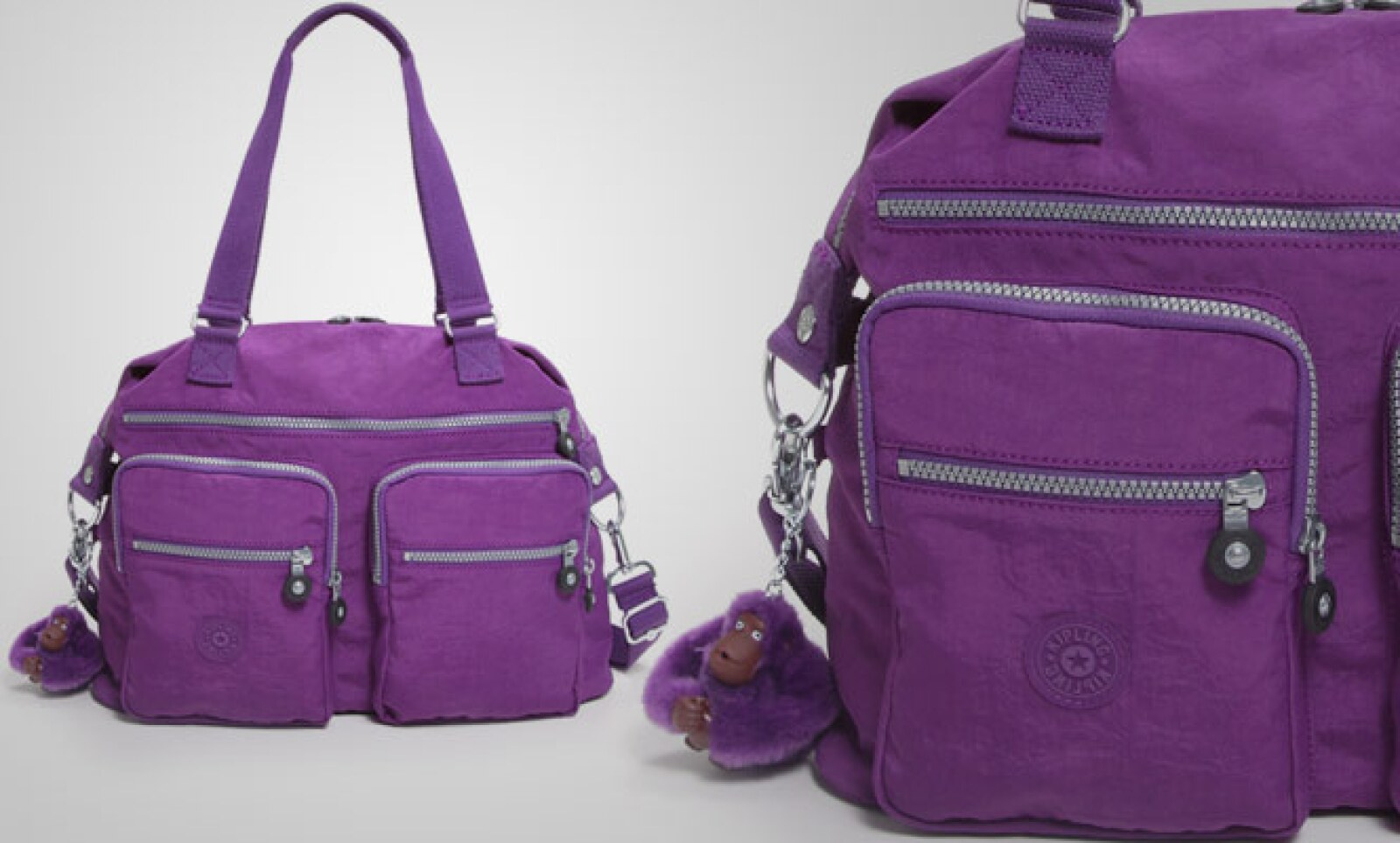Se mantiene el color violeta como tendencia en accesorios.