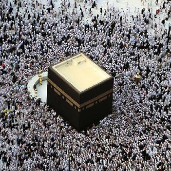 Concentracion de fieles en La Meca