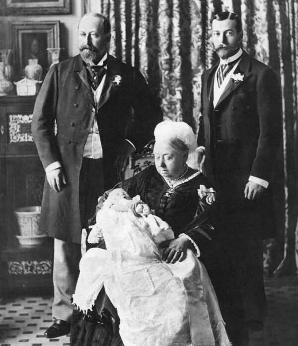 The future King Edward VIII's christening day, 16 July 1894.